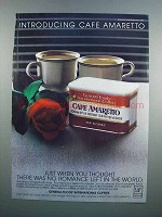 1983 GF International Coffeees CafŽ Amaretto Ad