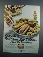 1983 Nabisco Snack Mate Cheese Ad - Real Cheese