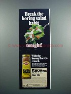 1983 Betty Crocker Bac-Os Ad - Salad Habit