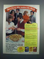 1983 Ralston Chex Ad - Chex Party Mix Makes the Party