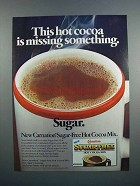 1983 Carnation Sugar-Free Hot Cocoa Mix Ad - Missing