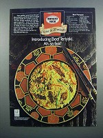 1983 Minute Rice Ad - Beef Teriyaki Recipe