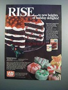 1983 Duncan Hines Cake Mix & Frosting Ad - Christmas