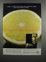 1983 Minute Maid Grapefruit Juice Ad - There's a Secret