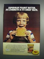 1983 Superman Peanut Butter Ad - Strength is Taste