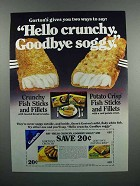 1983 Gorton's Crunchy Fish Sticks & Fillets Ad