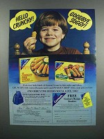 1983 Gorton's Crunchy & Potato Crisp Fish Sticks Ad