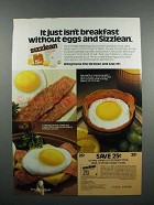 1983 Swift Sizzlean Ad - It Just Isn't Breakfast
