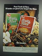 1983 Post Fruit & Fibre Cereal Ad - So Good
