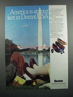 1983 Dexter Shoes Ad - America is at Your Feet