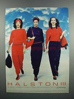 1983 Halston III Collection Active Wear Ad