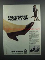 1983 Hush Puppies Shoes Ad - Avalon, Corona & Napoli II