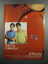 1983 JCPenney Fox Collection Shirts Ad