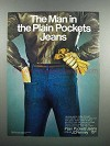 1983 JCPenney Plain Pockets Jeans Ad - The Man In