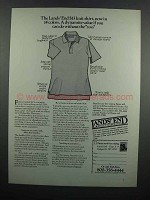 1983 Lands' End Knit Shirt Ad - Dynamite Value