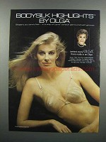 1983 Olga #336 Bodysilk Bra Ad - Highlights