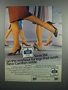 1983 No Nonsense Comfort Stride Panty Hose Ad - Workout
