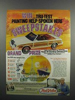 1983 True Value Tru-Test Paints Ad - Chrysler Le Baron