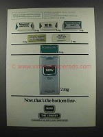 1983 Now Cigarettes Ad - Now, That's the Bottom Line
