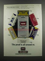1983 Now Cigarettes Ad - The Proof Is All Around Us