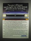 1983 Honda Civic 1300 Hatchback Ad - Lowest Priced