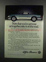 1983 Alfa Romeo Spider Veloce Ad - Take it On the Road