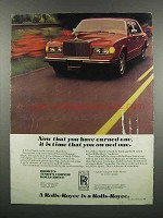 1983 Rolls-Royce Silver Spirit Ad - Earned One