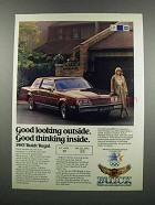 1983 Buick Regal Ad - Good Looking Outside