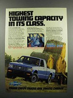 1983 Chevy S-10 Maxi-Cab Pickup Truck Ad - Towing