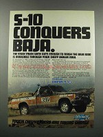 1983 Chevy S-10 Pickup Truck Ad - Conquers Baja