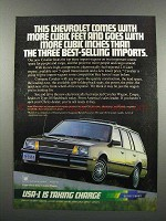 1983 Chevy Cavalier Wagon Ad - More Cubic Feet