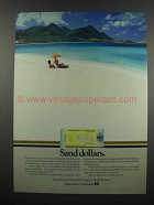 1983 BankAmerica Travelers Cheques Ad - Sand Dollars