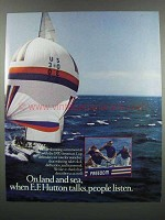 1983 E.F. Hutton Ad - On Land And Sea