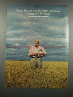 1983 E.F. Hutton Ad - Wheat Farmers