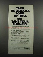 1983 Alitalia Airlines Ad - Take an Alitalia Tour