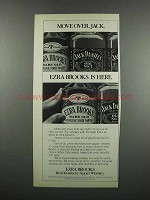 1983 Ezra Brooks Whiskey Ad - Move Over,  Jack