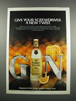 1983 Seagram's Gin Ad - Your Screwdriver