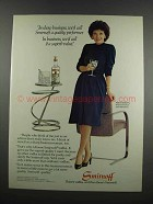 1983 Smirnoff Vodka Ad - Polly Bergen