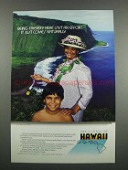 1983 Hawaii Tourism Ad - Being Friendly Here