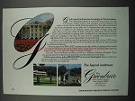 1983 The Greenbrier Resort Ad - G is For Grand Gracious