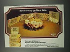 1983 Nabisco Dessert Cookies Ad - Savor Every Bite
