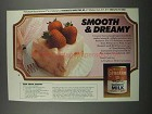 1983 Carnation Evaporated Milk Ad - Pink Angel Dessert