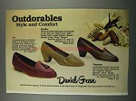 1983 Daniel Green Shoes Ad -: Ivy, Stroller & Playmate