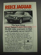 1983 Reece Jaguar XJ-6 Car Ad - North Dallas