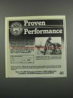 1983 S&S Performance Products Ad - Vince Testa
