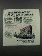 1983 Sheraton Grand Hotel Dallas/Ft. Worth Airport Ad