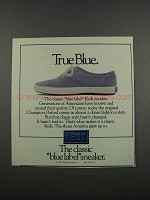 1983 Keds Blue Label Sneaker Ad - True Blue