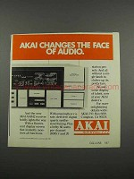 1983 Akai AA-R42 Receiver Ad - The Face of Audio