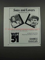 1983 WVPT 51 Masterpiece Theatre Ad - Sons and Lovers