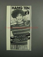 1983 Hang Ten Advertisement - Fashion